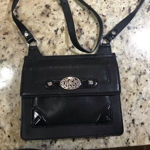 Brighton handbag/organizer. Black leather.